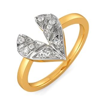 Plaid of Hearts Diamond Rings