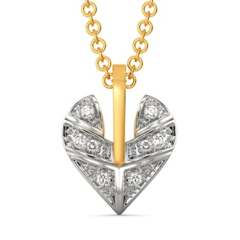 Plaid of Hearts Diamond Pendants