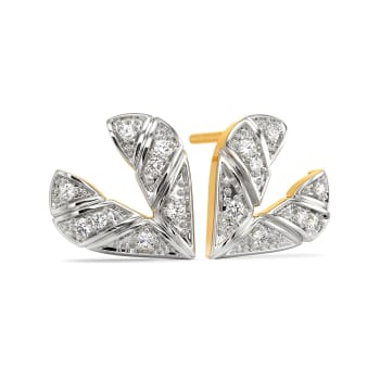 Plaid of Hearts Diamond Earrings