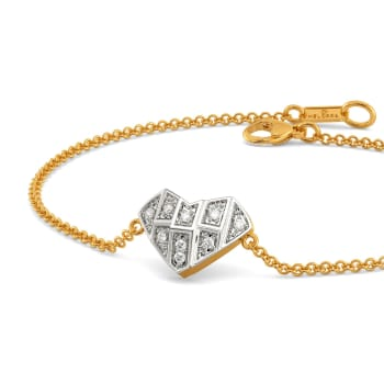 Heart Grids Diamond Bracelets