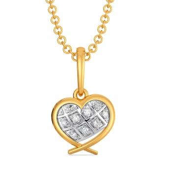 Peppy Heart Diamond Pendants