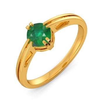 Green Grande Gemstone Rings
