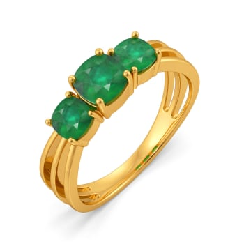 Sequined Sage Gemstone Rings