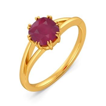 Scarlet Red Gemstone Rings