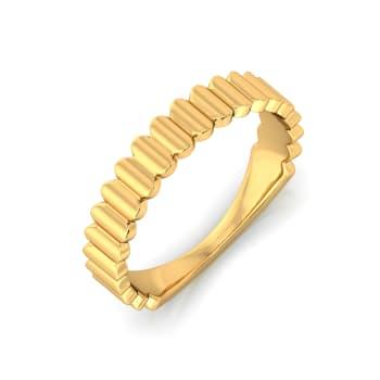 Ripple N Rhyme Gold Rings