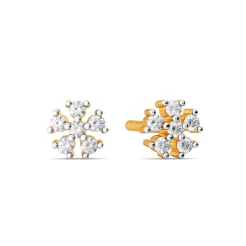 Itsy Bitsy Florals Diamond Earrings