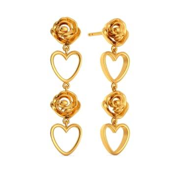 Rebel Rose  Gold Earrings