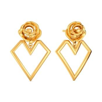Roses of Love Gold Earrings
