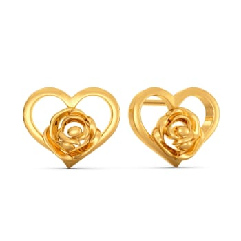 Amour Rosa Gold Earrings