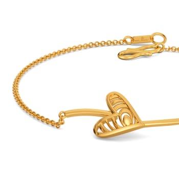 Pining Heart Gold Bracelets