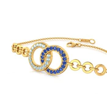 Denim Duo Gemstone Bracelets