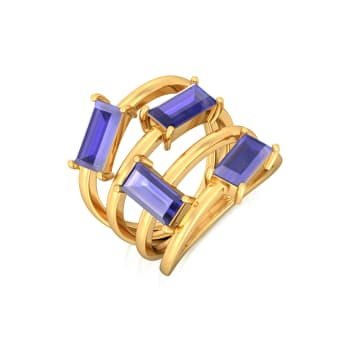Random Rectangle Gemstone Rings