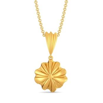 Ruffle Shuffle Gold Pendants