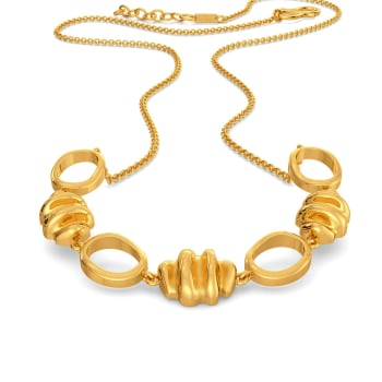 Dance of Ruffles Gold Necklaces