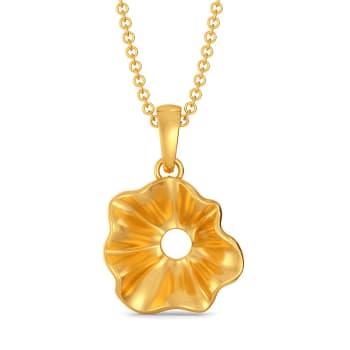 Curvy Cascades Gold Pendants