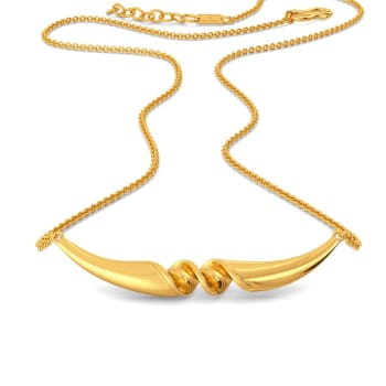 Ruffle Twirl Gold Necklaces