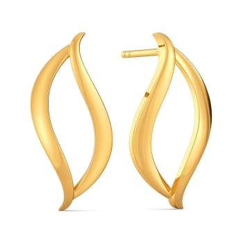 Flair of Loops Gold Earrings