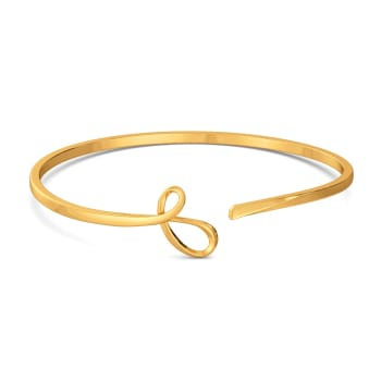 Twin Twirls Gold Bangles