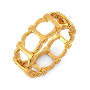 Mesh Refresh Gold Rings