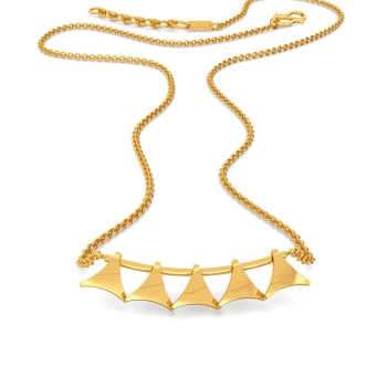 Mesh Muse Gold Necklaces