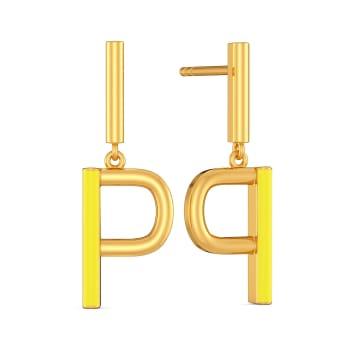 Peek A Sneak Gold Earrings
