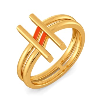 Happy Tangerine Gold Rings