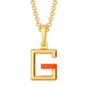 Glow Show Gold Pendants