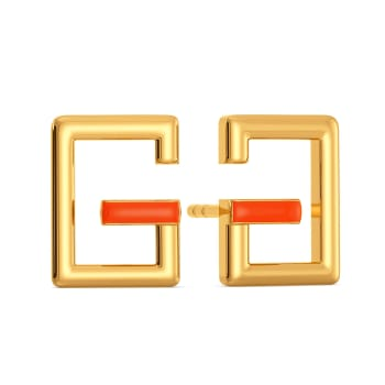 Glow Show Gold Earrings
