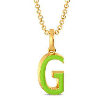Green Grabs Gold Pendants