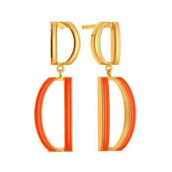 Daily Dances Gold Earrings