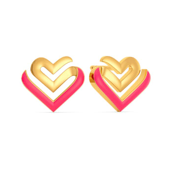 Amour Neon Gold Earrings