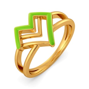 Love Pines Gold Rings