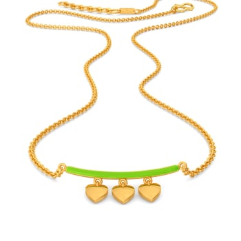Look at Me Green Gold Necklaces
