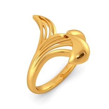 Flor de Magnolia Gold Rings