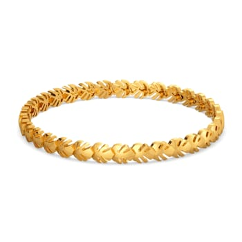 Petals & Ferns Gold Bangles