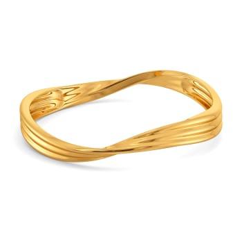 Dreamy Drapes Gold Bangles