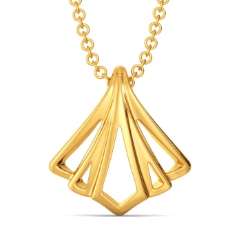 Drape Desires Gold Pendants