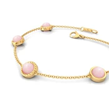 Ballet Pink Gemstone Bracelets