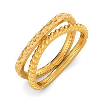Oh So Boho Gold Rings