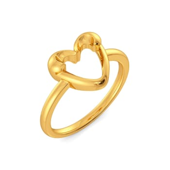 Love Palm Gold Rings