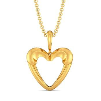 Love Palm Gold Pendants