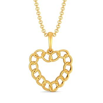Love Shackles Gold Pendants