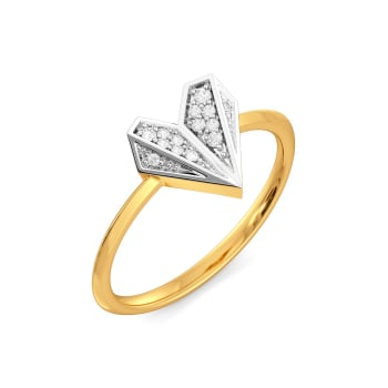 Heart Mache Diamond Rings