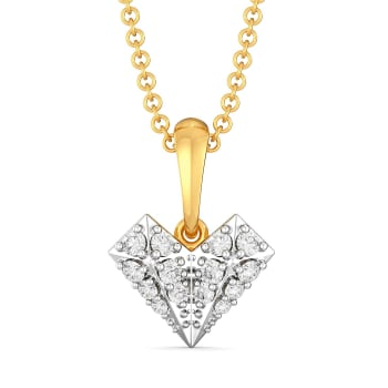 Heart Mache Diamond Pendants