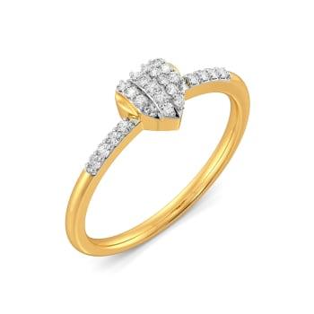 Pleats of Hearts Diamond Rings