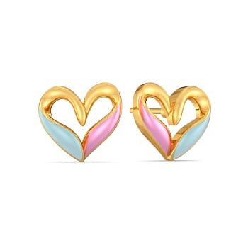 Blue Blush Gold Earrings