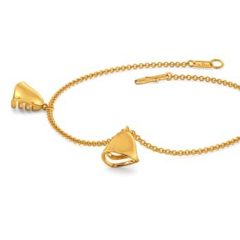 Winter Hats Gold Bracelets