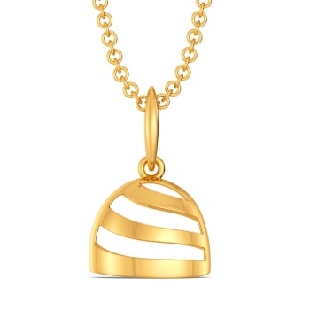 Cloche Call Gold Pendants