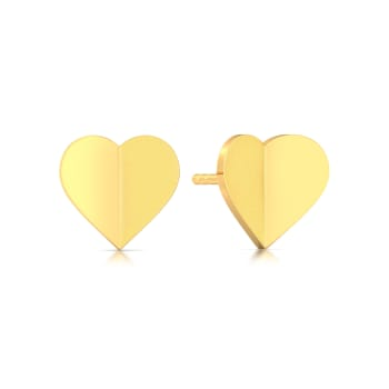 Cold Folds Gold Earrings