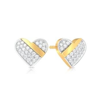 Cross my Heart Diamond Earrings